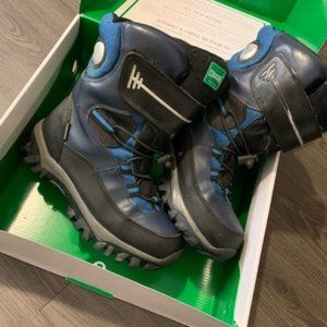 cougar blue black kids winter snow boots size 5M